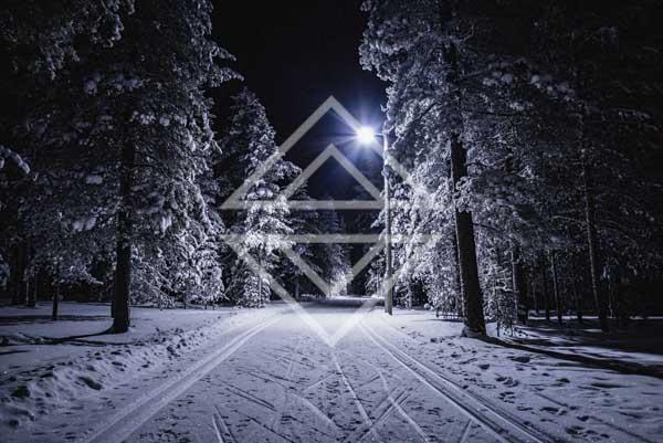 Ski Trail by Night