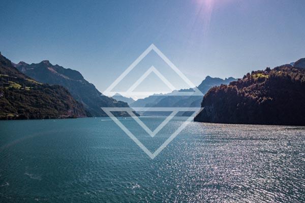 Midday Mountain Lake